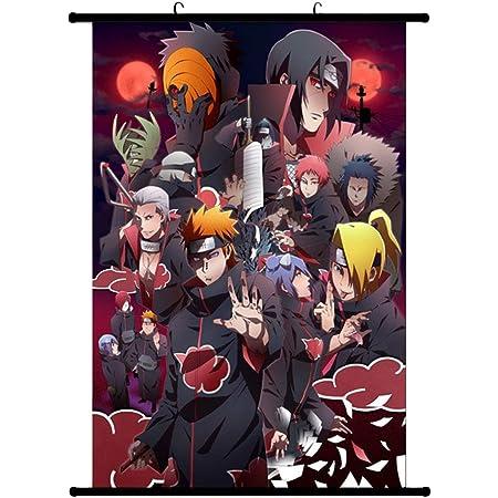 04 Fat Bear Exquise Life Essential Naruto Poster en tissu Peinture murale Motif personnages de Naruto Uchiha Itachi Sasuke D/écoration murale /à suspendre S: 20 x 30 cm Style 6