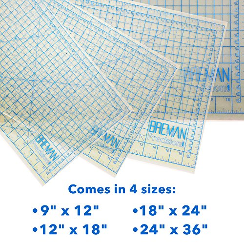 Translucent Self Healing Mat is The Perfect Cutting Mat Board for All Arts & Crafts Including Quilting, Scrapbooking, Sewing, Workshop Use, and School Projects (24X18)