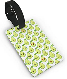 Avocado Seamless Fashion Cruise Luggage Tag Labels Set Compatible Bags