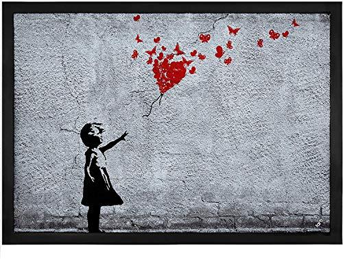 1art1 102663 Banksy Girl - Zerbino in poliammide PVC, 60 x 40 x 0,5 cm
