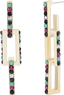Steve Madden Women's Alloy Rhinestone Multi Color Drop and Dangle Earrings - SME519813GD