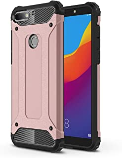 QUAN Protection Cover Cell Phone Cases & Covers For Huawei Honor Play 7C Full-body Rugged TPU + PC Combination Back Cover ...