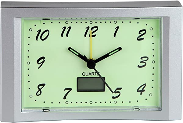 Home X Glow In The Dark Alarm Clock The Perfect Addition To Any Morning Routine Includes Built In Digital Thermometer