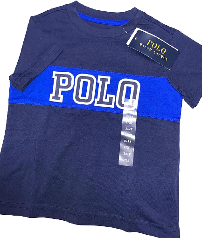 Polo Ralph Lauren Navy Boys Short Sleeve Blue Polo Logo, US 2T