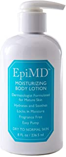 EpiMD Moisturizing Body Lotion Created by a Dermatologist to Hydrate Dry,Aging or Fragile Skin, Soothing Ceramide+Botanical Formula, Fragrance-free