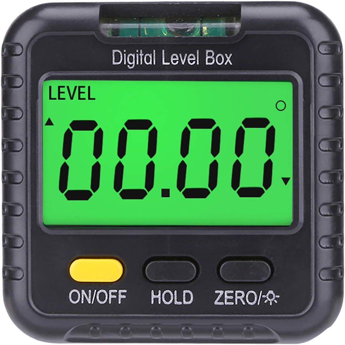 zrshygs Digitaler Winkelmesser Magnetischer Neigungsmesser Mini Level und Abschr/ägungsmesser Pr/äzise