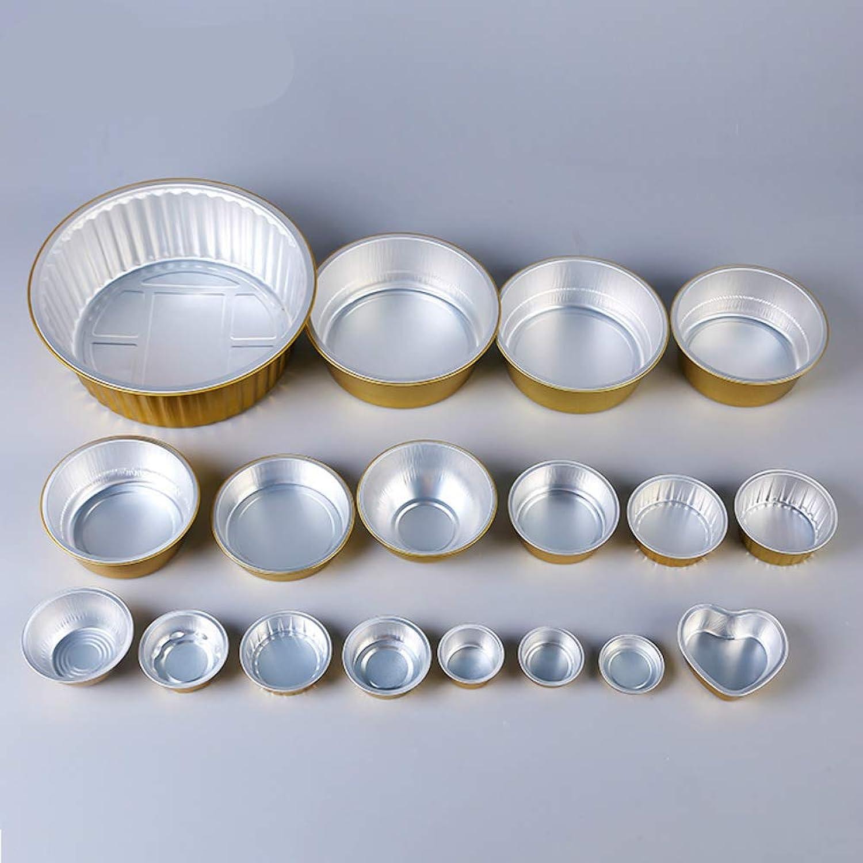 XC Vaisselle en Aluminium Feuille de Restauration Rapide Boîte en Aluminium Feuille jetable Bol à Soupe Pot en Argile doré Boîte de ConditionneHommest de Riz Fond Or + Couvercle  Vendu  50 Jeux de