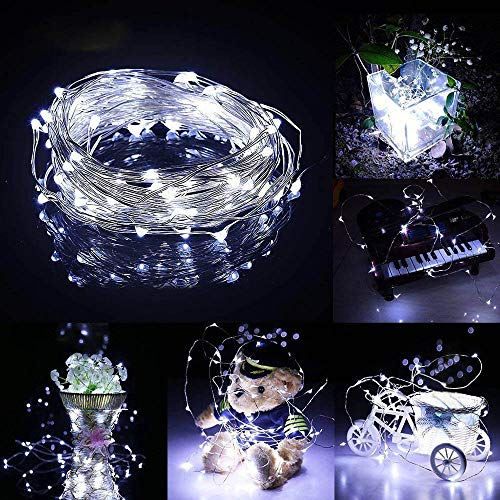 Hniunew 3M 30 LEDs WarmweißE Lichterkette Fairy Kupferdrahtschnur Hauptbeleuchtung Party Dekoration Lichterketten Einmachglas Aussen Lichterkette Licht Vase Dekoration Fairy Micro Lights