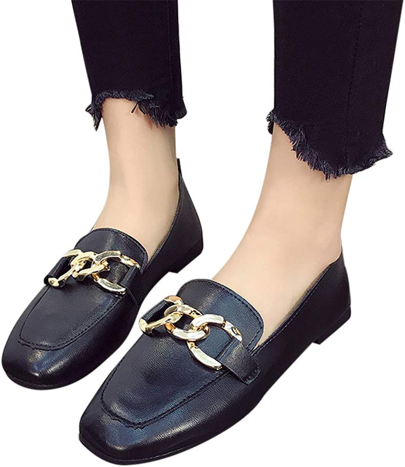 SamaTung Women Flats Candy color shoes Woman Shallow Mouth Loafers Fashion Flat Casual shoes