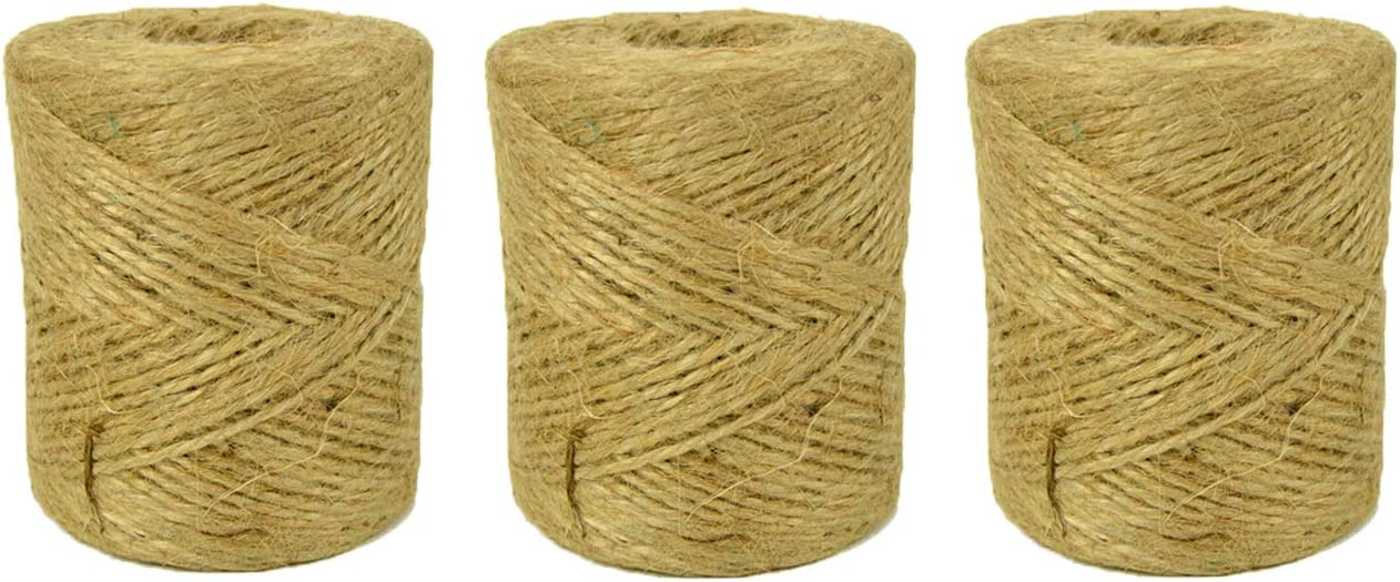 Natural Jute Free Shipping Max 54% OFF Cheap Bargain Gift Twine String for Crafts 1200 3 - 2ply Rolls Ar Ft