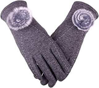 BIGBOBA Non-Falling Touch Screen Gloves Plus Velvet Thickening Bike Driving Warm Gloves Winter Autumn Anniversary Gifts Valentine's Day for Men and Women