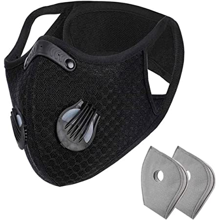 89AMZ 1 Pack Anti-pollution Cycling Face Protection with 10 Pack Activated Carbon Filters Dust Proof Washable Sports Outdoor Mouth Face Guard