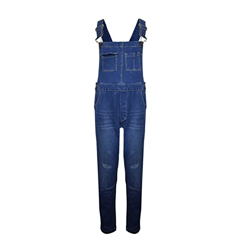 602b9f33b9b Homeware Outlet Kids Girls Boys New Denim Childrens Stretch Dark Wash  Dungarees Playsuit Jumpsuit Long UK
