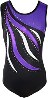 Weixinbuy Girls Leotards Gymnastics Ballet Dance Tank Leotard for Girls
