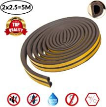 Smart Saver D Shaped (Brown) Self-Adhesive Epdm Doors and Windows Foam Seal Strip Rubber Weatherstrip 5 Meter (2 X 2.5 M = 5 Meter)-Pack of 1