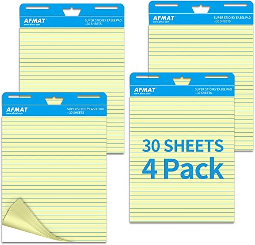 lowest Sticky Easel Pad, Ruled Anchor Chart Paper, 25 x 30 Inches Large Self-Adhesive outlet sale Flip Chart Paper for Teachers/Classroom Easel/Office, Soft Yellow Page new arrival with Lines, 30 Sheets/Pad, 4Pads online
