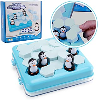 Penguins Pool Party Table Games - Happytime Little Penguin Puzzle Desktop Game Parent-Child Interactive Toys Part Family Strategy Game for Children