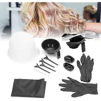 Kit de peluquería de 15 piezas, características principales de las herramientas de peine para el cabello para tinte para el cabello