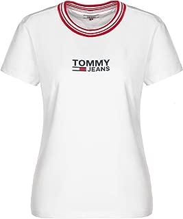TOMMY HILFIGER Kadın Tişörtler TJW RIB STRIPE NECK TEE