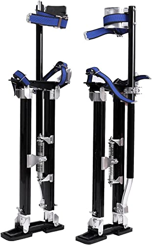 2021 Mallofusa Drywall Stilts new arrival 24-40 Inch Aluminum Tool Stilt for outlet online sale Painting Painter Taping Black outlet sale