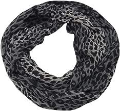 iYBUIA Fashion Scarves for Women, Girls, Ladies, Infinity Scarf with Zipper Pocket Pattern Print Lightweight Wrap