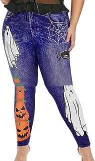 Women Halloween Print High Waist Stretchy Sexy Leggings Tights Pants