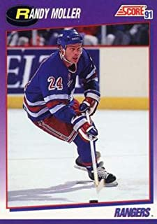 1991-92 Score American Hockey #79 Randy Moller New York Rangers Official NHL Trading Card From Pinnacle Inc.
