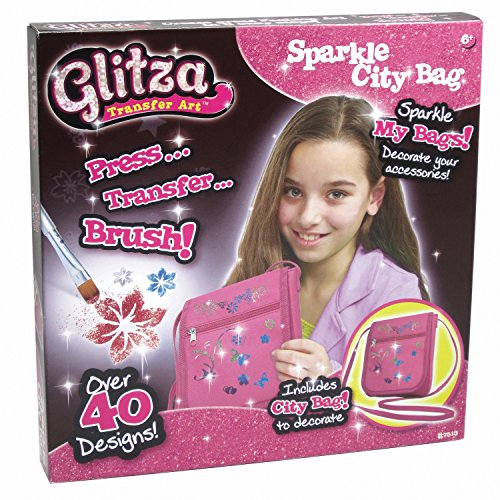 Knorrtoys GL7513 - Glitza, City bag, Handtasche, Glitzertattoo Set