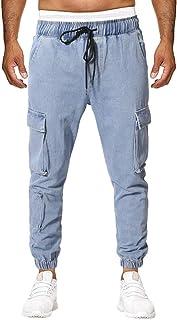 f572021757af YU'TING ☀‿☀ Pantaloni Cargo Uomo, Pantaloni Uomo Lunghi Cargo con Coulisse