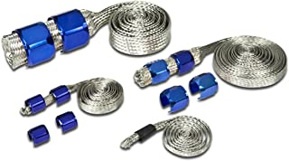Universal Stainless Steel Braided Dress-Up Hose Cover Kit (Blue)