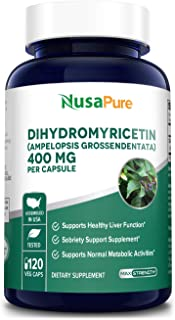 Dihydromyricetin (DHM) as Hovenia Dulcis Extract 400mg 120 Veggie Capsules (No GMO & 100% Vegetarian) Support Hangover Pre...