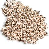 Venta al por mayor 100 piezas de 6 mm de metal chapado en diamantes de imitación de cristal espaciador de bolas sueltas para hacer joyas, pulseras, collares, joyas, oro rosa