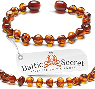 Baltic Amber - Bracelet or Anklet - Genuine Baltic Amber Beads - 100% Naturall - 5.3 inch CGN.P-BRQ