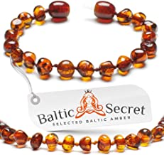 Amber Teething Bracelet for Baby Girl or Boy, Amber Teething Anklet for Babies Kids Toddler, Certified Baltic Amber Teething Beads, Natural Baby Teething Relief by Baltic Secret/CGN.P-BRQ 5.3 inch
