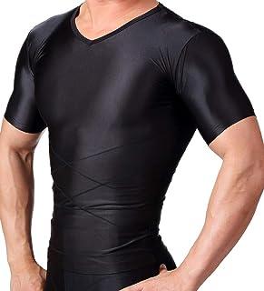スパルタックス 加圧シャツ 半袖 強力加圧 メンズ コンプレッション 加圧インナー vネック Lサイズ 黒