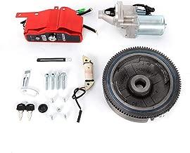 Electric Start Kit Flywheel Ignition Starter Motor Key Switch Coil For Honda GX340 11HP GX390 13HP Engine USA Stock