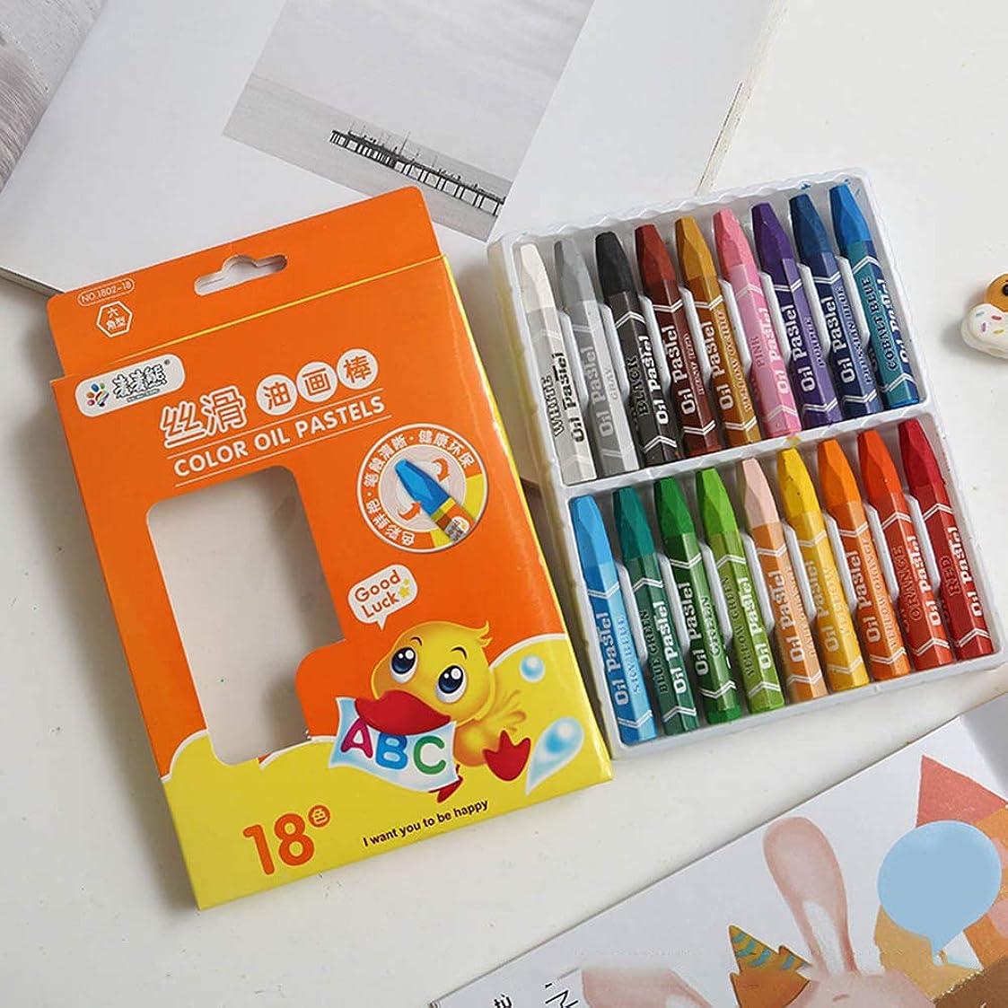 ふさわしい不完全な甘いnuyutr クレヨン カラーペン おもちゃ 絵の具 文房具 繰り出し式 塗り絵 描き用 子供用 入園 かわいい 入学お祝い プレゼント(18色)