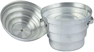 Kuber Industries Exclusive Aluminium Silver Idli Maker Cooker with 4 Plates and 3 Plates Steamers (2 Dhokla Plate and 1 Patra Plate), 9.5 Diameter