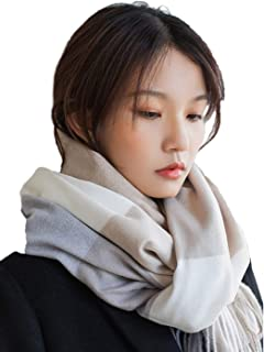 Simsly Winter Cashmere Wool Scarf Pashmina Shawl Wrap Tassel Warm Scarves Simple Scarf for Women and Girls (Multicoloured)