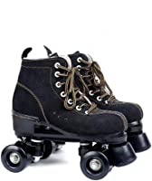 XUDREZ Classic Roller Skates Roller Skates PU Leather High-top Roller Skates Four-Wheel Roller Skates Rechargeable Shiny Roller Skates for Unisex Youth Adults