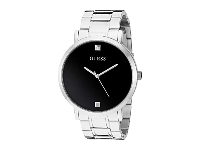 GUESS  U1315G1 (Silver-Tone/Black) Watches