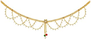 Fresh Vibes Golden Traditional South Indian Kamarband Waist Belt for Women - Fancy Party Wear & Stylish Simple Multi Chain...