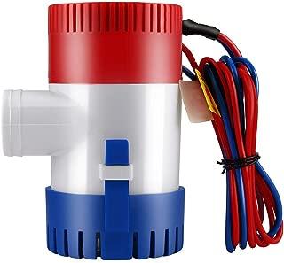 Detectorcatty 12V Vacuum Water Pump Submersible Marine Boat Bilge Pump 1100GPH Water Pump Used in Boat Seaplane Motor Homes Houseboat