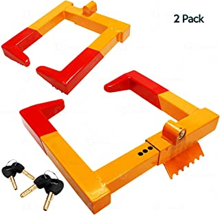 Zone Tech 2-Pack Security Tire Lock Clamp Boot Tire Claw - Premium Quality Heavy Duty Anti- Theft Protective Vehicle Wheel Lock