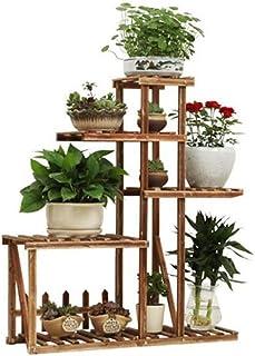 FJFSC Flower Rack Plant Stands 5-Tier Solid Wood Flower Stand Multifunction Storage Shelf In Outdoor Garden Or Indoor Livi...