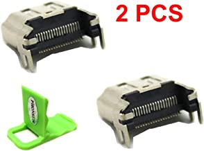 2 x New HDMI Port Socket Interface Connector Replacement Repair Part for Sony Playstation 4 PS4 Console + PHONSUN Portable Cellphone Holder
