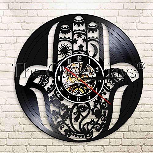 wtnhz Reloj de Pared con Disco de Vinilo LED Reloj de Pared Vintage con Disco de Vinilo Reloj De Pared De Vinilo Reloj de Pared para decoración del hogar