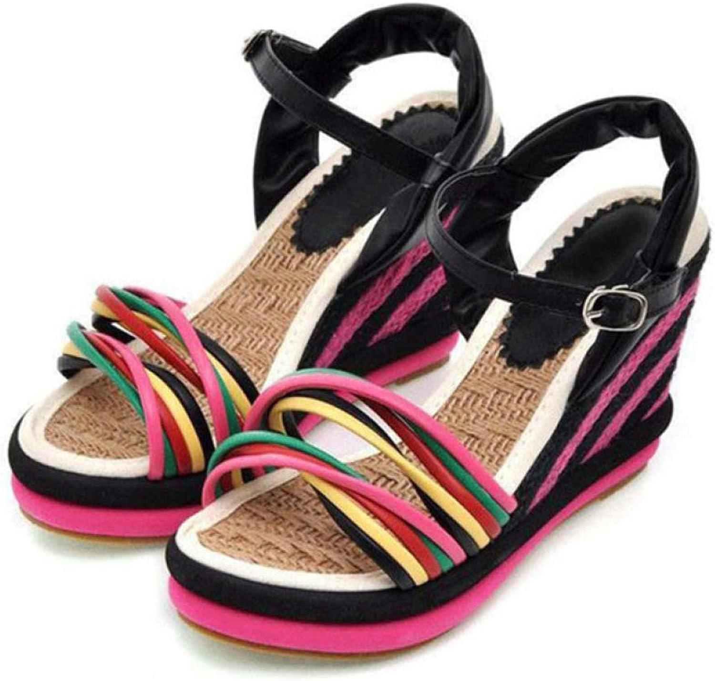 MEIZOKEN Women's Espadrilles Wedge Sandal Fashion Crisscross Slip on Bohemian Patchwork Platform Slide Sandals