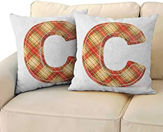 RenteriaDecor Letter C,Kids Toddler Pillow Vintage Typeface Design with Classical Pattern Sewing Craft Theme 16