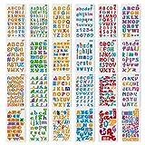 XCOZU Plantillas de letras, 24 Piezas Plantillas de alfabeto Dibujo Reutilizable Stencil Journal para Pintar para Niño Diario Scrapbooking Accesorios 4 x 7 pulgadas